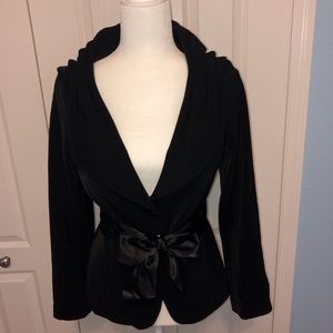 White House Black Market Black Blazer Jacket Belt